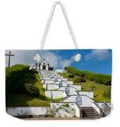 Chapel In Azores Islands Weekender Tote Bag