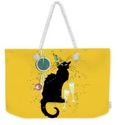 Chat Noir New Years Party Countdown Weekender Tote Bag