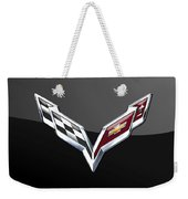 Chevrolet Corvette 3d Badge On Black Weekender Tote Bag