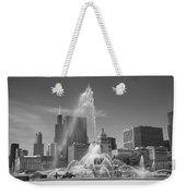 Chicago Skyline And Buckingham Fountain Weekender Tote Bag