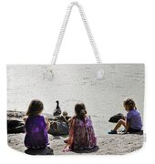 Children At The Pond 5 Weekender Tote Bag