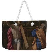 Christ Appearing To Saint Peter On The Appian Way Weekender Tote Bag