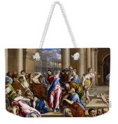 Christ Driving The Money Changers From The Temple Weekender Tote Bag