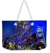 Christmas Tree Near Panther Stadium In Charlotte North Carolina Weekender Tote Bag