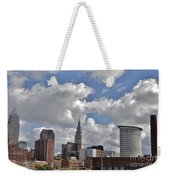 Cleveland Skyline From The Flats River District Weekender Tote Bag
