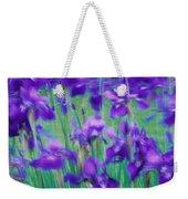 Close-up Of Purple Flowers Weekender Tote Bag