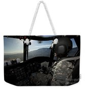 Co-pilot Flying A Ch-47 Chinook Weekender Tote Bag