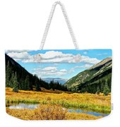 Colorado Mountain Lake In Fall Weekender Tote Bag
