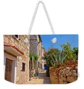 Colorful Mediterranean Stone Street Of Prvic Island Weekender Tote Bag