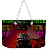 Colorful Music Rock N Roll Guitar Retro Distressed  Weekender Tote Bag