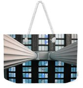 2 Column Stain Blue Weekender Tote Bag
