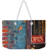 Come On In, We're Open Weekender Tote Bag