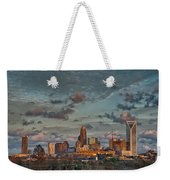 Cotton Candy Sky Over Charlotte North Carolina Downtown Skyline Weekender Tote Bag