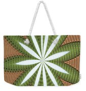 Cotton Field Abstract Weekender Tote Bag