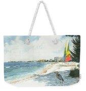 Blue Heron And Hobie Cats, Crescent Beach, Siesta Key Weekender Tote Bag