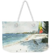 Blue Heron And Hobie Cats, Crescent Beach, Siesta Key Weekender Tote Bag