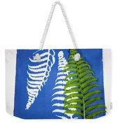 Cyanotype Print, Fern Weekender Tote Bag