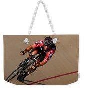 Cycle Racing On The Curve Weekender Tote Bag