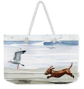 Dachshund At The Beach  Weekender Tote Bag