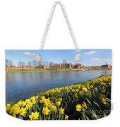 Daffodils Beside The Thames At Hampton Court London Uk Weekender Tote Bag