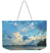 Dawn Seascape With Cloudy Sky Weekender Tote Bag