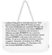 Decree Weekender Tote Bag