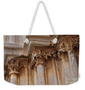 Detail Of The Medieval Portal Of Saint Marys Church In Tavira. Portugal Weekender Tote Bag
