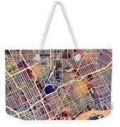 Detroit Michigan City Map Weekender Tote Bag