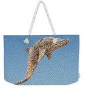 Dolphin Shell Art Sculpture Weekender Tote Bag