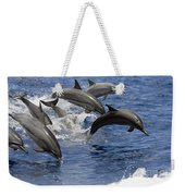 Dolphins Leaping Weekender Tote Bag