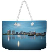 early morning sunrise over city of philadelphia PA Weekender Tote Bag