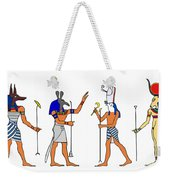 Egyptian Gods And Goddess Weekender Tote Bag by Michal Boubin