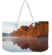 Fall Sunrise At Cox Hollow Lake In Governor Dodge State Park Weekender Tote Bag