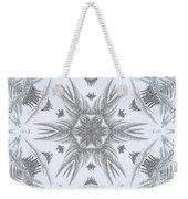 Fern Frost Mandala Weekender Tote Bag