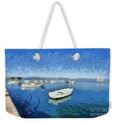 Fishing Boats In Nafplio Town Weekender Tote Bag