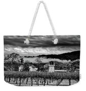 Fog Over The Vineyard Weekender Tote Bag