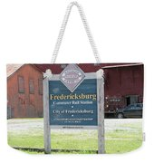 Fredericksburg Rail Station Weekender Tote Bag