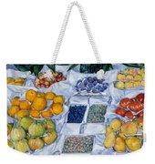 Fruit Displayed On A Stand Weekender Tote Bag