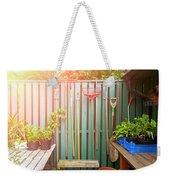Garden Potting Table Weekender Tote Bag