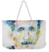 George Orwell - Watercolor Portrait Weekender Tote Bag