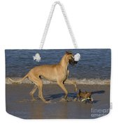 Giant And Tiny Dogs Weekender Tote Bag