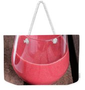 Glass With Strawberry Cocktail On Wooden Plank Weekender Tote Bag