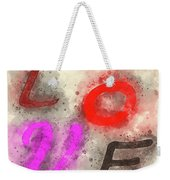 Graphic Display Of The Word Love  Weekender Tote Bag