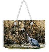 Great Blue Heron Fishing Weekender Tote Bag