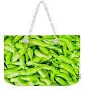Green Jalapeno Peppers Weekender Tote Bag