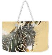 Grevys Zebra, Samburu, Kenya Weekender Tote Bag