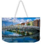 Hapenny Bridge, River Liffey, Dublin Weekender Tote Bag