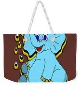 Happy Blue Elephant Weekender Tote Bag