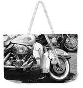 White Harley Davidson Bw Weekender Tote Bag by Stefano Senise