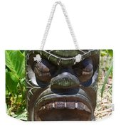 Hawaiian Tiki God Ku Weekender Tote Bag